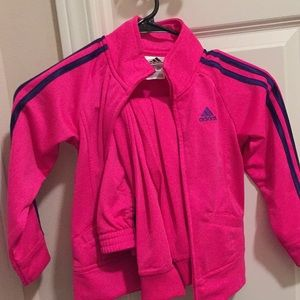 4T pink adidas track suit. Worn once